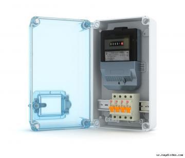 Пластиковый щит под установку счетчика, для наружного монтажа, IP-66
